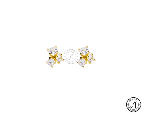 Clover Cubic Stud Earring