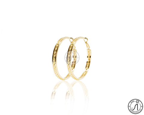 Twisted Flat Etch Hoop Earring