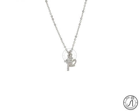 Cross Crown Necklace