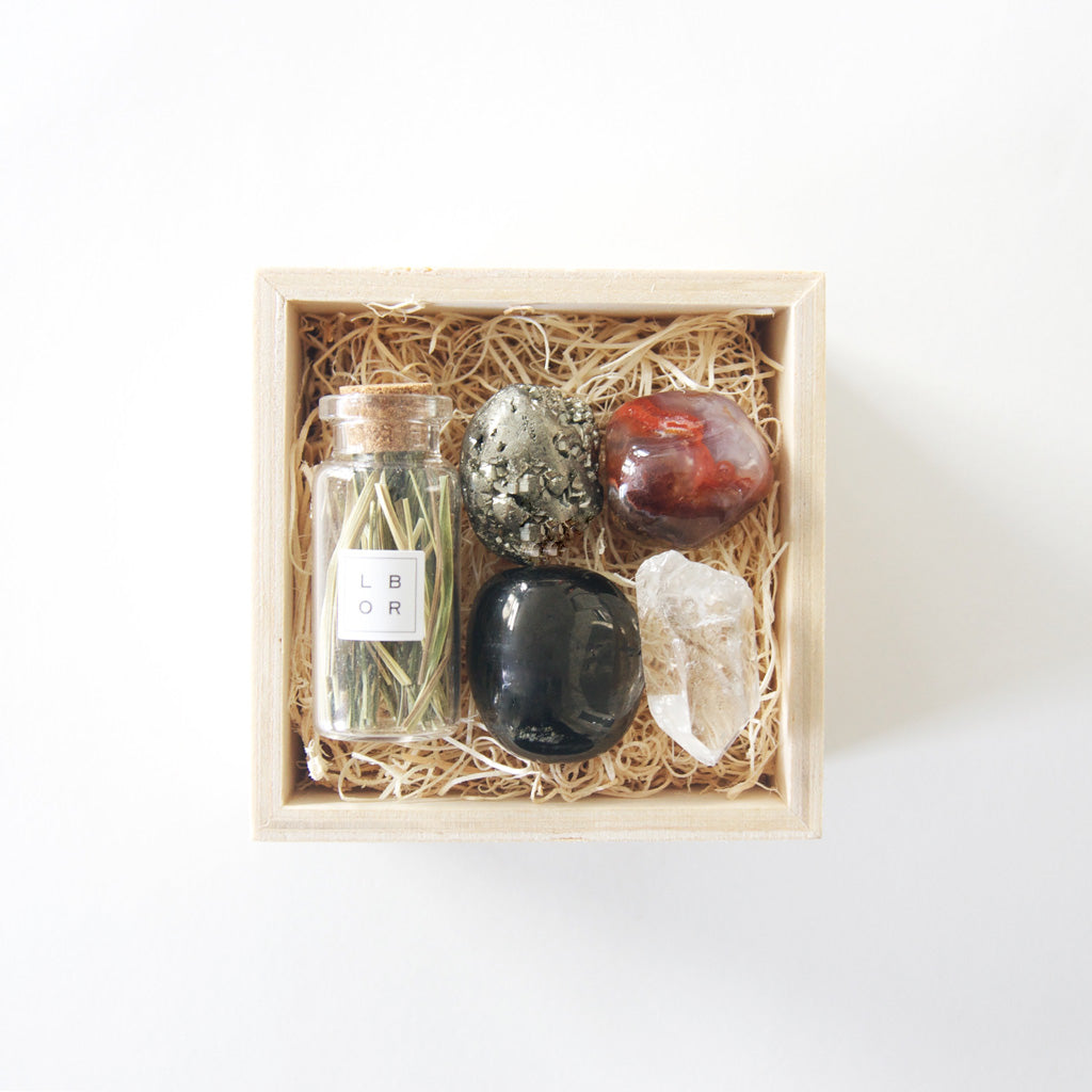 Wildfire healing crystal gift box for success