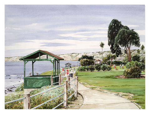 Scripps Park from the South, La Jolla