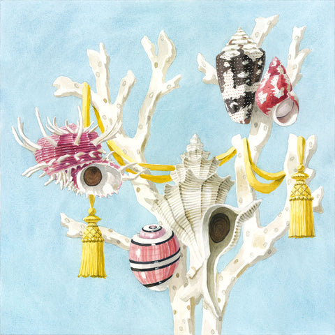 giclee print by Harrison Howard Shells, staghorn coral, & tassels