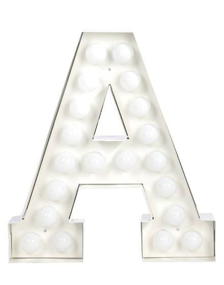 Vegaz Metal Letter Lighting - Coveted Gifts - 2