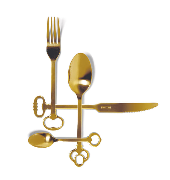 Keytlery Cutlery Set, Gold - Coveted Gifts - 1