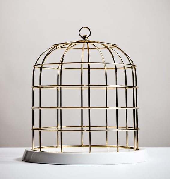 Twitable Gold Bird Cage - Coveted Gifts - 1
