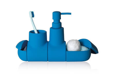Submarino Bathroom Accessory Set - Blue - Coveted Gifts - 1