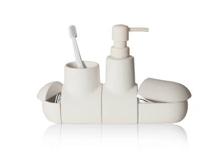 Submarino Bathroom Accessory Set - White - Coveted Gifts - 1