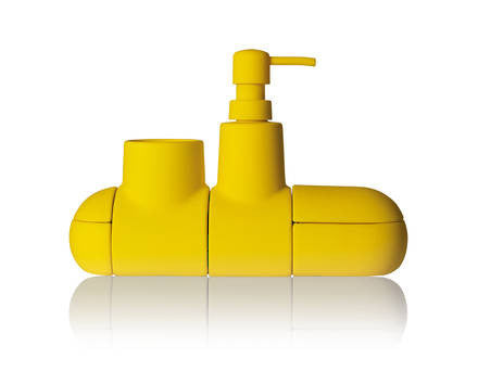 Submarino Bathroom Accessory Set - Yellow - Coveted Gifts - 1