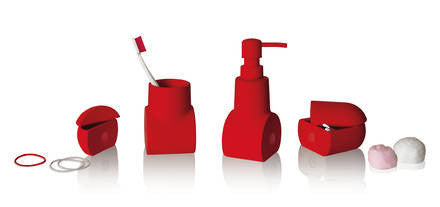 Submarino Bathroom Accessory Set - Red - Coveted Gifts - 1