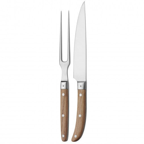 Casual Ranch Carving Set Oak - Coveted Gifts