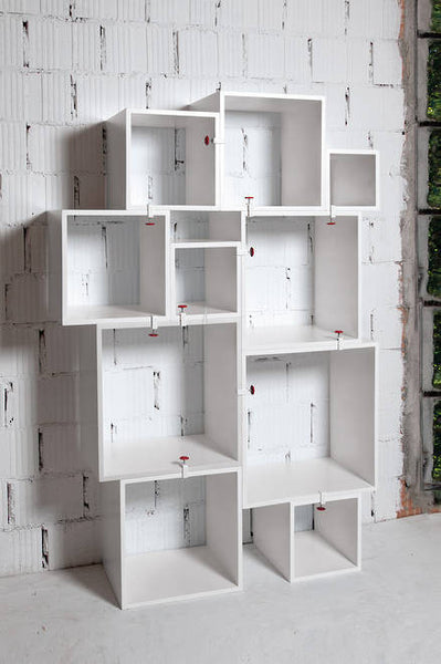 Assemblage - White Storage shelving modules - Coveted Gifts - 1