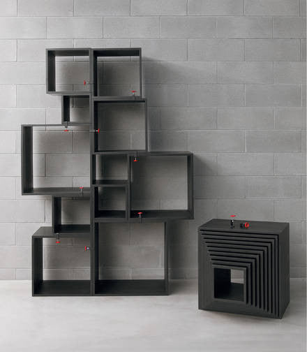 Assemblage - Black Storage shelving modules - Coveted Gifts - 1