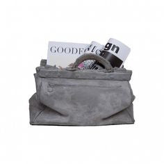 Sac Bag Vase | Magazine Rack, Concrete - Coveted Gifts - 2