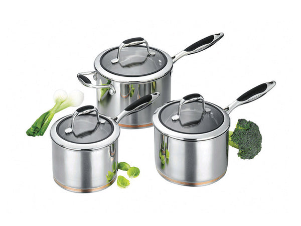 Coppernox 3 Piece Saucepan Set - Coveted Gifts