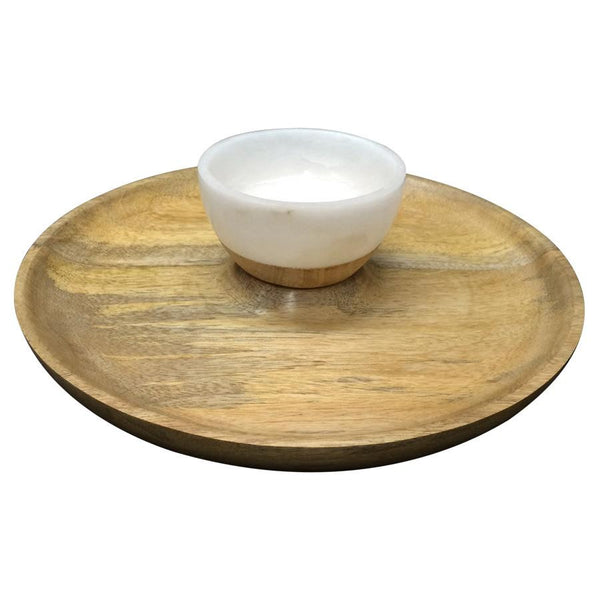 Marble | Wood Chip & Dip Set - Coveted Gifts