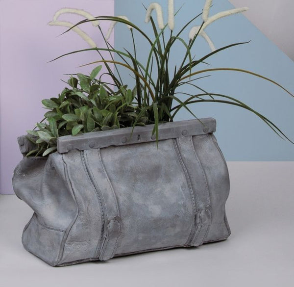 Sac Bag Vase | Magazine Rack, Concrete - Coveted Gifts - 3