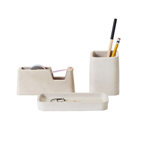 Concrete Minimalist Desk Set - Coveted Gifts