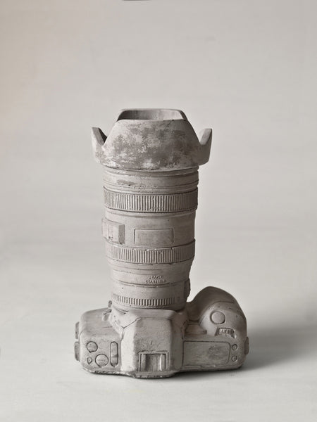 Camera Vase | Object Holder, Concrete - Coveted Gifts - 1
