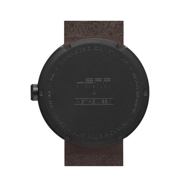 Tube Watch - Matte Black | Brown Leather Strap - Coveted Gifts - 2