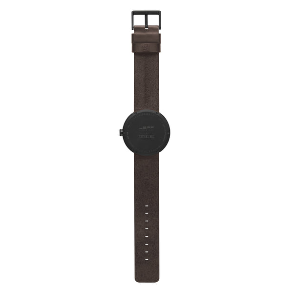 Tube Watch - Matte Black | Brown Leather Strap - Coveted Gifts - 3