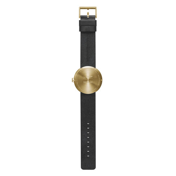 Tube Watch - Brass | Black Leather Strap - Coveted Gifts - 3