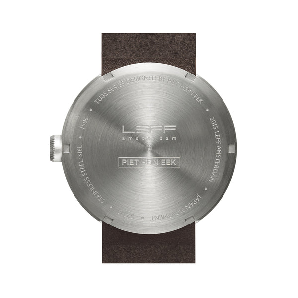 Tube Watch - Steel | Brown Leather Strap - Coveted Gifts - 2