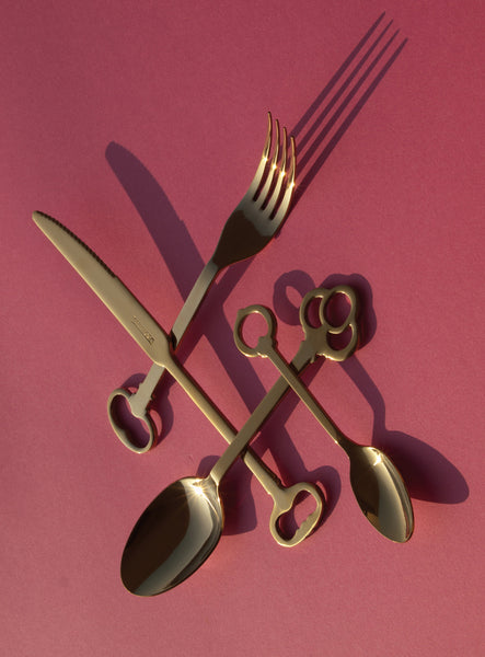 Keytlery Cutlery Set, Gold - Coveted Gifts - 2