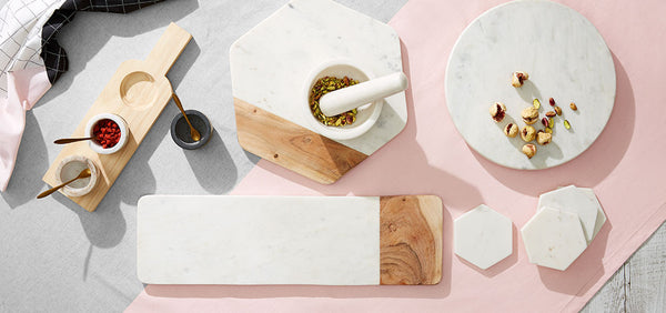 Marble & Wood Long Serving Board - Coveted Gifts - 2