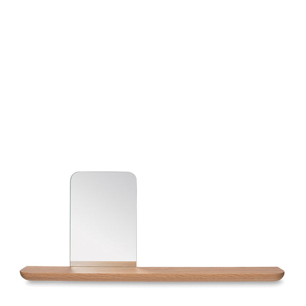 Radial Floating Shelf w/Face Mirror - Coveted Gifts