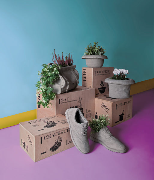 Chaussures Shoe Vase | Object Holder, Concrete - Coveted Gifts - 6