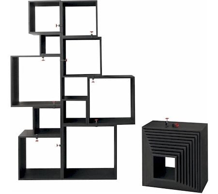 Assemblage - Black Storage shelving modules - Coveted Gifts - 2