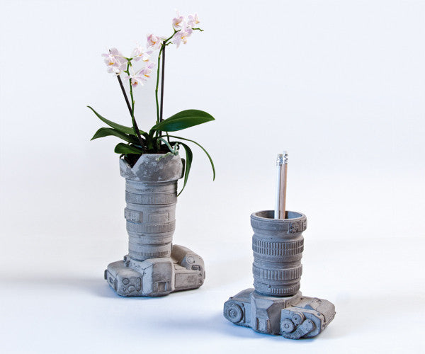 Camera Vase | Object Holder, Concrete - Coveted Gifts - 3