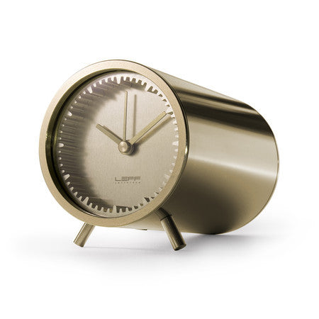 Tube Series Clock - Brass - Coveted Gifts - 1