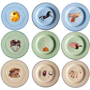 Metal Enamel Plate - Coveted Gifts - 1