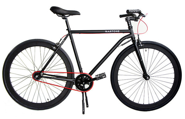 Martone Mercer Mens's Bike Black - Coveted Gifts - 1
