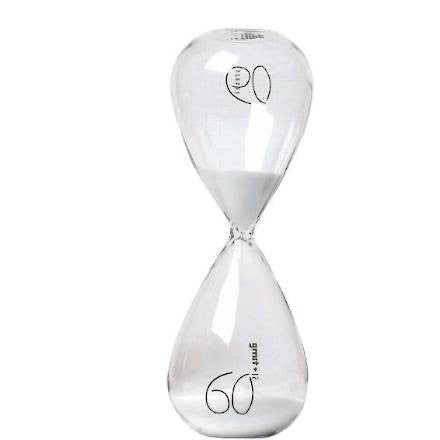 Si-Time 60 Minute Hourglass, White Sand - Coveted Gifts