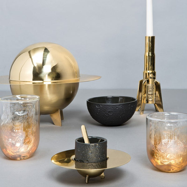 Cosmic Diner-Lunar Brass Stoneware Coffee Set