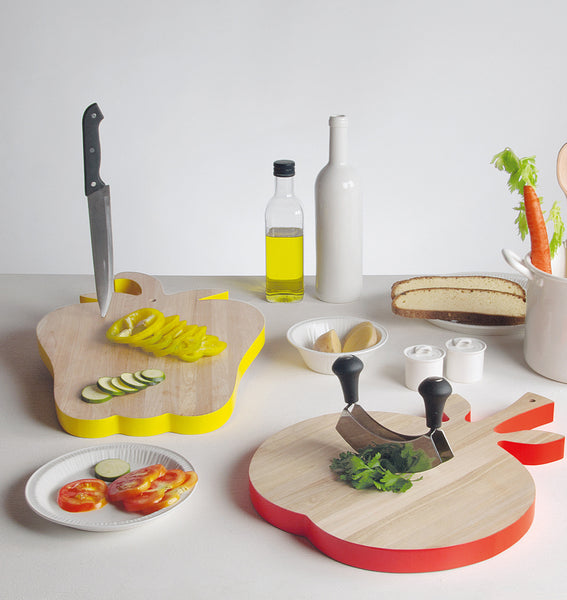 Vege Table Chopping Board, Wood Aubergine - Coveted Gifts - 2