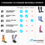 Calf Compression Sleeves - White