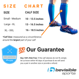 Calf Compression Sleeves - Electric Blue