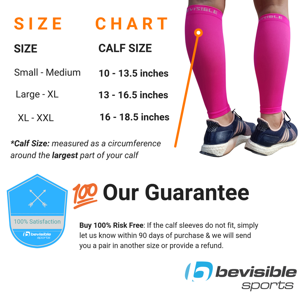Calf Compression Sleeves - Neon Pink