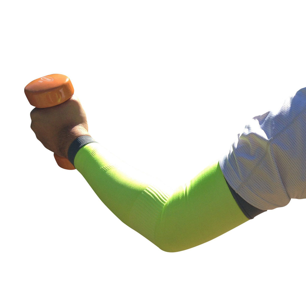 Arm Compression Sleeves - Arm Compression Sleeves - Neon Green