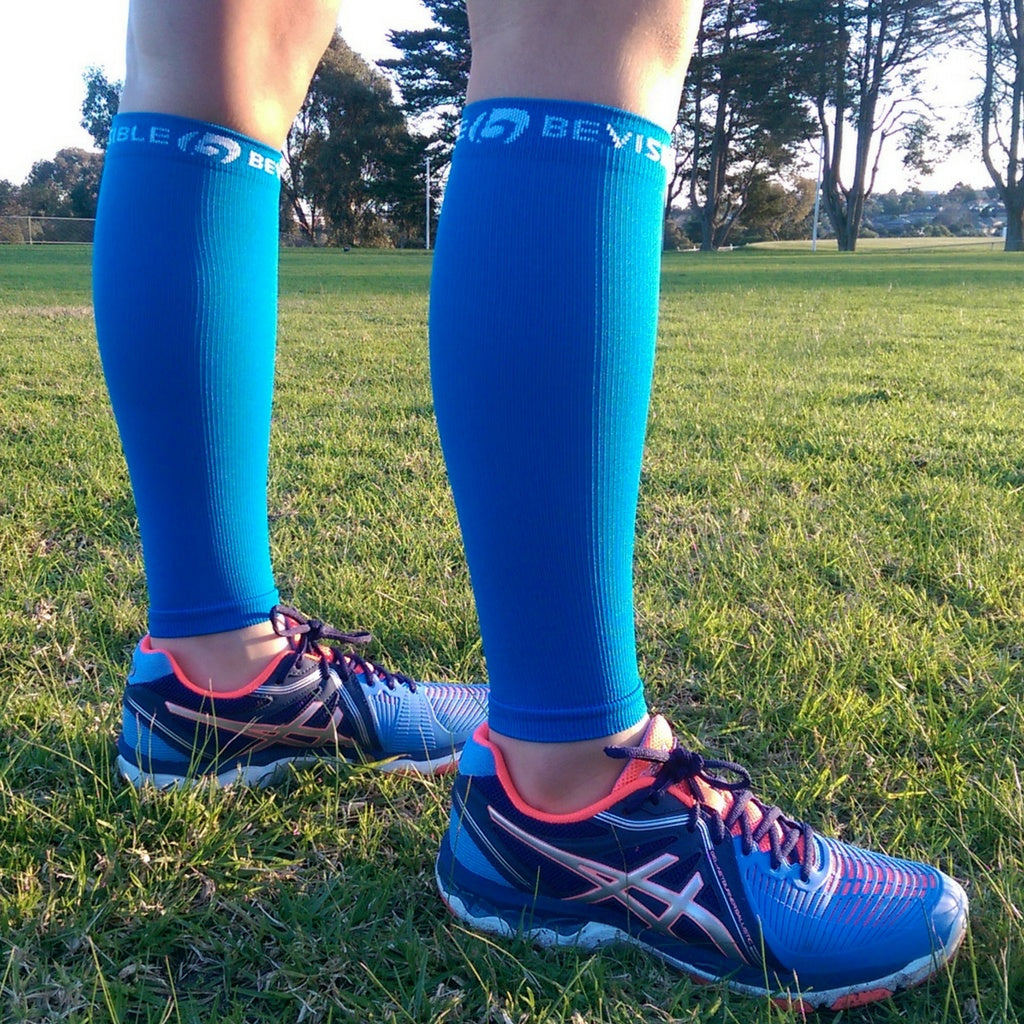 Calf Compression Sleeves - Calf Compression Sleeves - Electric Blue