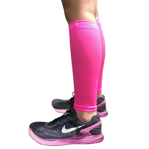 Calf Compression Sleeves - Calf Compression Sleeves - Neon Pink
