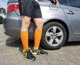 Calf Compression Sleeves - Calf Compression Sleeves - Orange