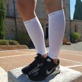 Calf Compression Sleeves - Calf Compression Sleeves - White