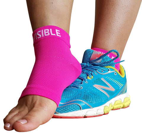 Compression Wear - Foot Compression Sleeves - Neon Pink