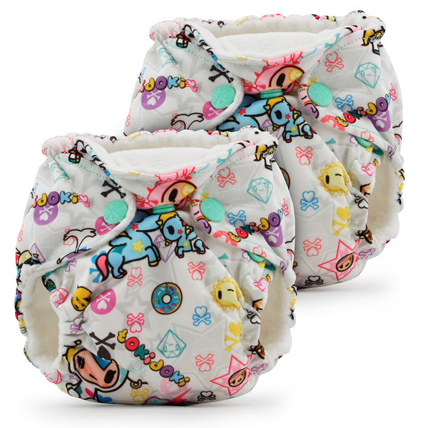 Lil Joey Newborn All In One Cloth Diaper (2 Pack)- LIMITED EDITIONS- tokiBambino