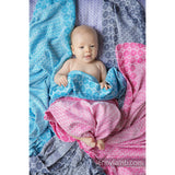 Lenny Lamb Woven Blanket- Turquoise (100% bamboo viscose)