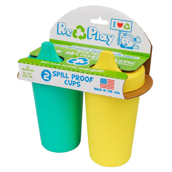 Re-Play No-Spill Cups- Packaged 2 pack
